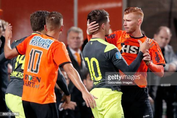 Marco van Ginkel of PSV Dylan Mertens of FC Volendam during the Dutch KNVB Beker match between FC Volendam v PSV at the Kras Stadium on October 26...