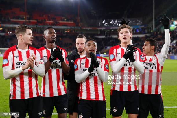 Marco van Ginkel of PSV Nicolas Isimat of PSV Bart Ramselaar of PSV Steven Bergwijn of PSV Sam Lammers of PSV Mauro Junior of PSV during the Dutch...