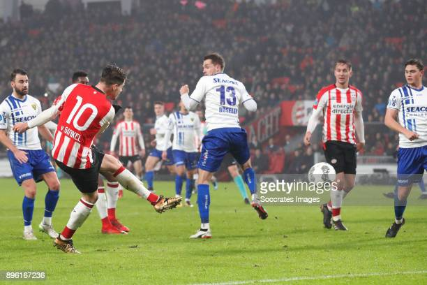 Marco van Ginkel of PSV scores the third goal to make it 21 during the Dutch KNVB Beker match between PSV v VVVVenlo at the Philips Stadium on...