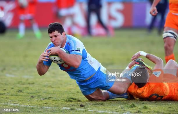 Marco van Staden of the Bulls during the Super Rugby match between Vodacom Bulls and Jaguares at Loftus Versfeld on July 07 2018 in Pretoria South...