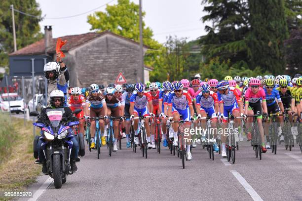 Marco Velo of Italy Regulator Motorbike / Safety / during the 101st Tour of Italy 2018 Stage 13 a 180km stage from Ferrara to Nervesa Della Battaglia...