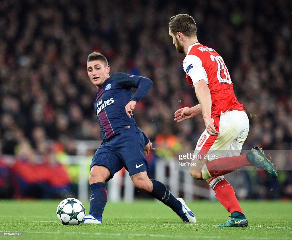 Arsenal v Paris Saint-Germain - UEFA Champions League : News Photo