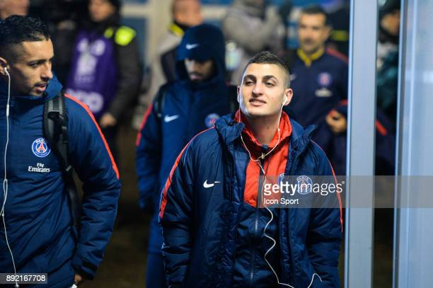 Marco Verratti of PSG during the french League Cup match Round of 16 between Strasbourg and Paris Saint Germain on December 13 2017 in Strasbourg...