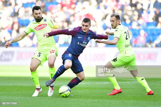Marco Verratti of PSG during the Ligue 1 match between Paris Saint Germain and Angers SCO on March 14 2018 in Paris France