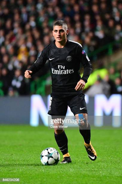 Marco Verratti of PSG during the Uefa Champions League match between Glasgow Celtic and Paris Saint Germain at Celtic Park Stadium on September 12...