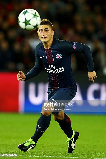 Marco Verratti of PSG in action during the Group A UEFA Champions League match between Paris SaintGermain Football Club and Fussball Club Basel 1893...