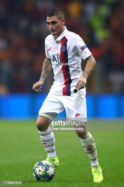 Marco Verratti of PSG in action during the UEFA Champions League group A match between Galatasaray and Paris SaintGermain at Turk Telekom Arena on...