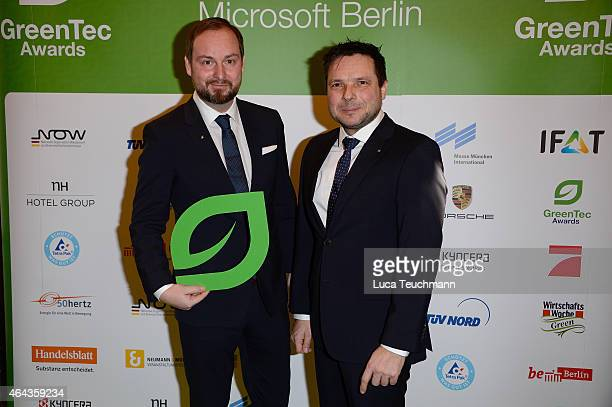 Marco Voigt and Sven Krueger attend the GreenTec Awards Jury Meeting 2015 at Microsoft Berlin on February 25 2015 in Berlin Germany