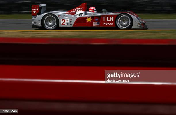 Marco Werner driver of the Audi Sport North America Audi AG R10/TDI during the American Le Mans Series Acura Sports Car Challenge on July 21 2007 at...