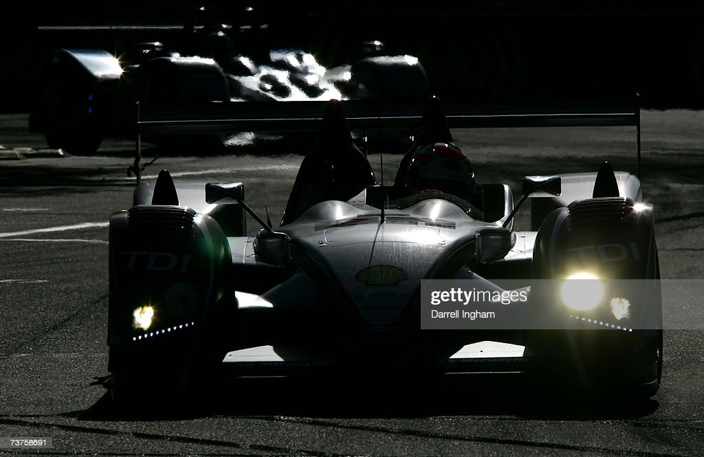 Marco Werner Driving The #2 Audi Sport North America Audi AG R10 TDI During  The