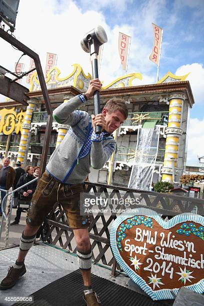 Marco Wittmann attends at the 'Hau den Lukas' the 'BMW Wiesn SportStammtisch' of the 2014 Oktoberfest at Theresienhoehe on September 23 2014 in...