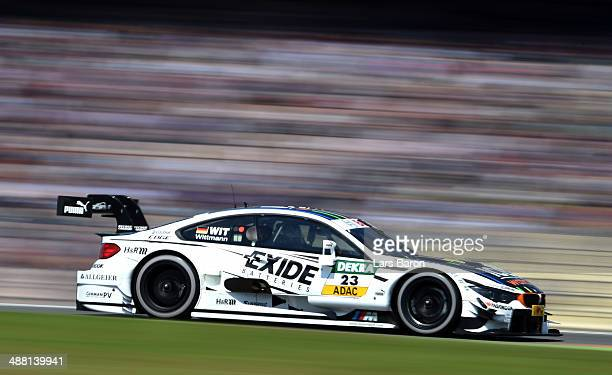 Marco Wittmann of Germany and BMW Team RMG drives during the first round of the DTM 2014 German Touring Car Championship at Hockenheimring on May 4...