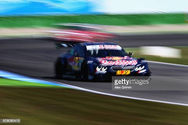 Marco Wittmann of Germany and BMW team RMG drives during the free practice session ahead of race 2 of the DTM German Touring Car Hockenheim at...