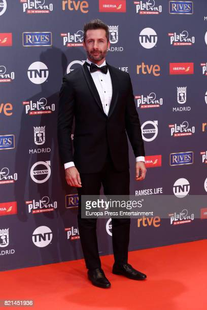 Marco Zunino attends Platino Awards 2017 at La Caja Magica on July 22 2017 in Madrid Spain