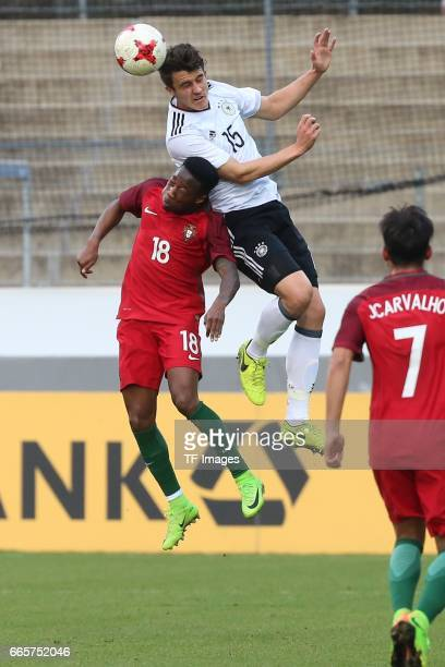 MarcOliver Kempf Carlos Mane battle for the ball during the International Friendly match between Germany U21 and Portugal U21 at GaziStadion on March...