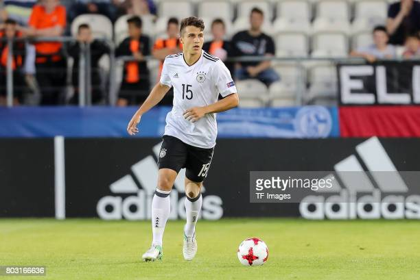 MarcOliver Kempf of Germany in action during the UEFA European Under21 Championship Group C match between Germany and Denmark at Krakow Stadium on...