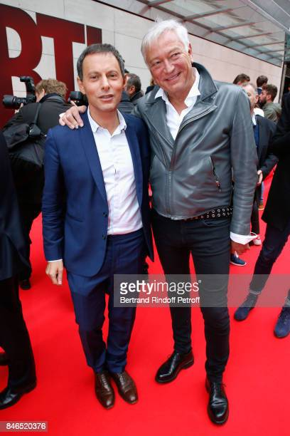 MarcOlivier Fogiel and Laurent Boyer attend the RTL RTL2 Fun Radio Press Conference to announce their TV Schedule for 2017/2018 at Elysee Biarritz at...