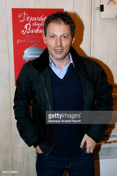 MarcOlivier Fogiel attends Gerard Depardieu sings Barbara accompanied on the piano of Barbara by Gerard Daguere who was his Pianist for more than 15...