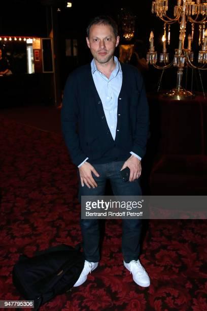 MarcOlivier Fogiel attends the 'Patrick et ses Fantomes' Theater Play at Casino de Paris on April 17 2018 in Paris France