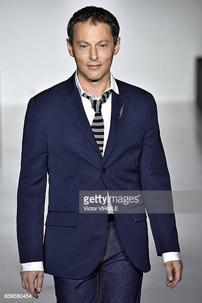 MarcOlivier Fogiel walks the runway during the Agnes B Menswear Fall/Winter 20172018 show as part of Paris Fashion Week on January 22 2017 in Paris...