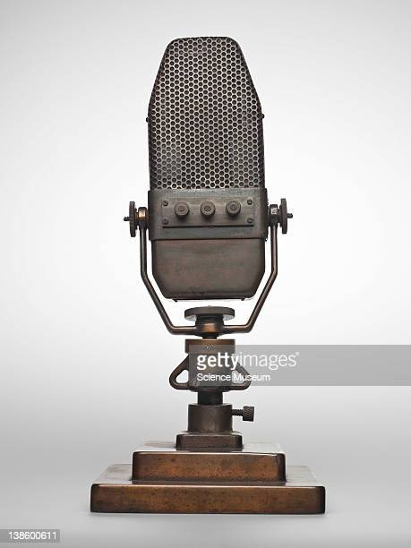Marconi - B.B.C. Ribbon microphone type AXBT no. 297369/11780A. This image has been retouched for creative purposes some elements may have been...