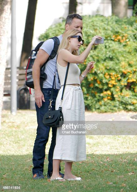 Marcos A Ferraez and Alona Tal sighted on September 1 2015 in Berlin Germany