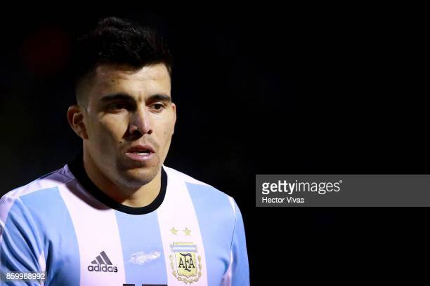 Marcos Acuña of Argentina looks on during a match between Ecuador and Argentina as part of FIFA 2018 World Cup Qualifiers at Olimpico Atahualpa...
