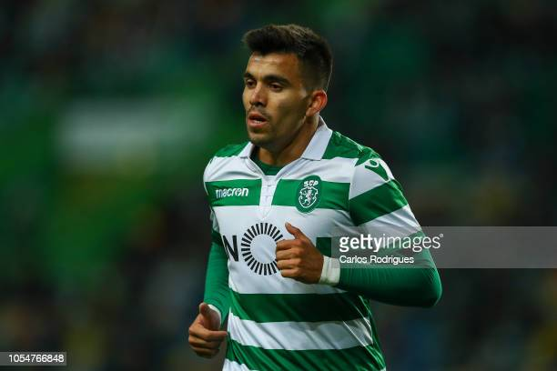 Marcos Acuna of Sporting CP during the Liga NOS round 8 match between Sporting CP and Boavista FC at Estadio Jose Alvalade on October 28 2018 in...