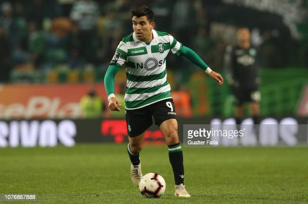 Marcos Acuna of Sporting CP in action during the Liga NOS match between Sporting CP and Belenenses SAD at Estadio Jose Alvalade on January 3 2019 in...