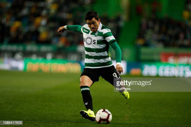 Marcos Acuna of Sporting in action during Primeira Liga 2018/19 match between Sporting CP vs Moreirense FC in Lisbon on January 19 2019