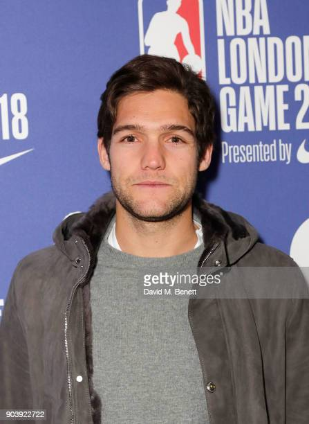 Marcos Alonso Mendoza attends the Philadelphia 76ers and Boston Celtics London game at The O2 Arena on January 11 2018 in London England