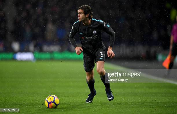 Marcos Alonso Mendoza of Chelsea during the Premier League match between Huddersfield Town and Chelsea at John Smith's Stadium on December 12 2017 in...