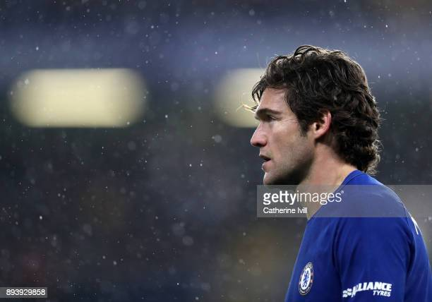 Marcos Alonso of Chelsea during the Premier League match between Chelsea and Southampton at Stamford Bridge on December 16 2017 in London England