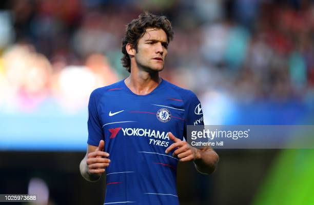 Marcos Alonso of Chelsea during the Premier League match between Chelsea FC and AFC Bournemouth at Stamford Bridge on September 1 2018 in London...