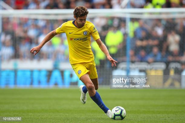 Marcos Alonso of Chelsea during the Premier League match between Huddersfield Town and Chelsea FC at John Smith's Stadium on August 11 2018 in...