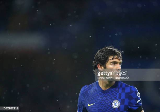 Marcos Alonso of Chelsea FC looks on during the UEFA Champions League group H match between Chelsea FC and Malmo FF at Stamford Bridge on October 20,...