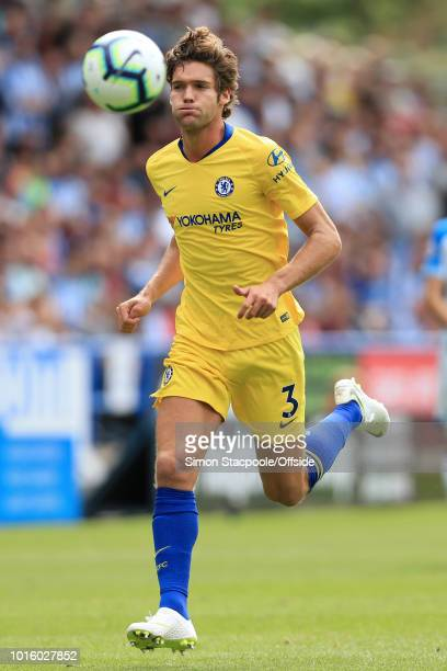 Marcos Alonso of Chelsea in action during the Premier League match between Huddersfield Town and Chelsea at the John Smith's Stadium on August 11...