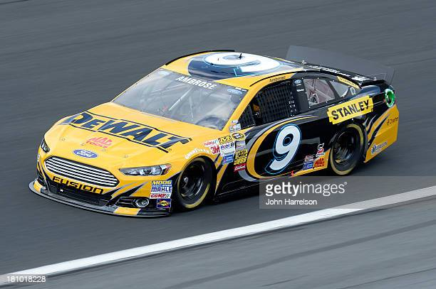 Marcos Ambrose driver of the DeWalt Ford during practice for the NASCAR Sprint Cup Series CocaCola 600 at Charlotte Motor Speedway on May 23 2013 in...
