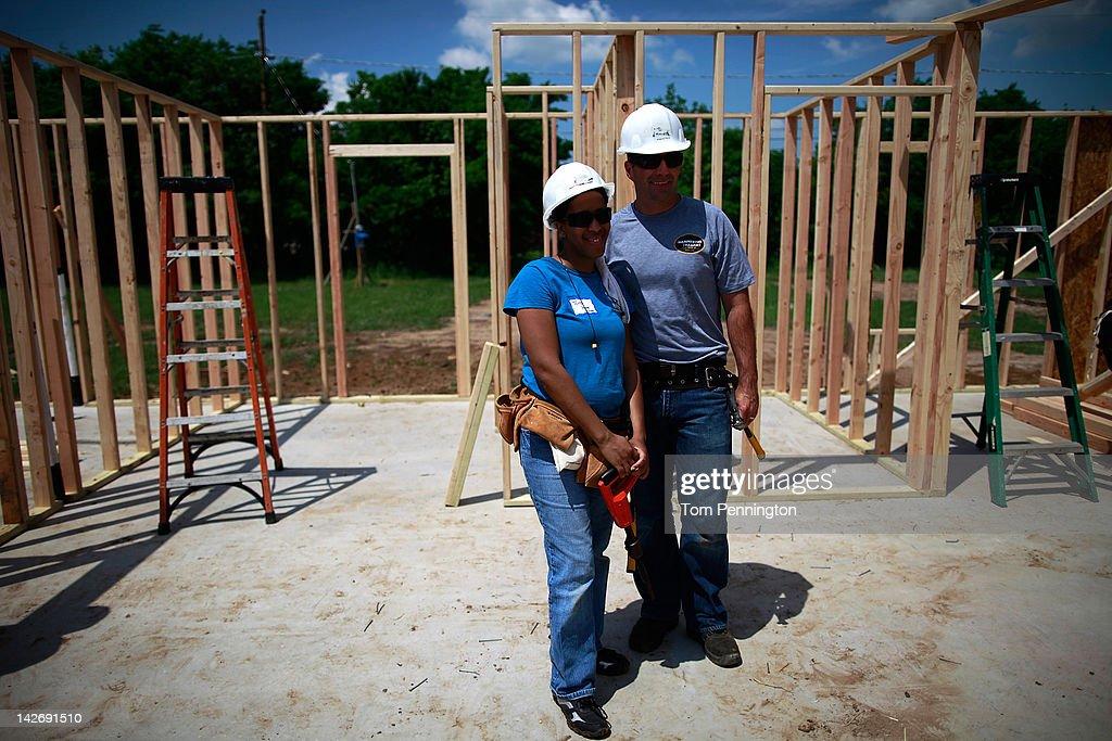 Marcos Ambrose Visits Habitat For Humanity Build : News Photo