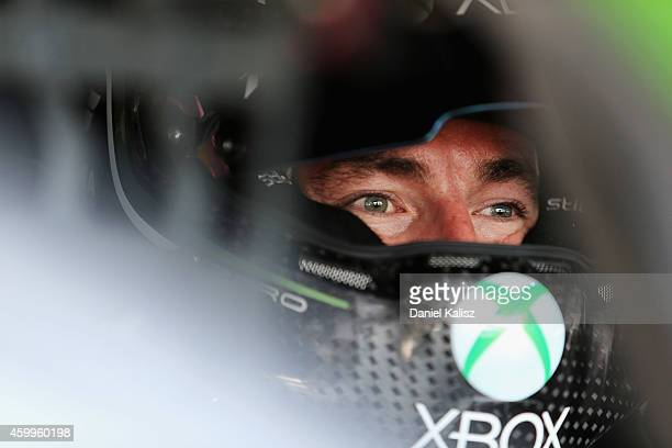 Marcos Ambrose driver of the Xbox Racing DJR Ford during practice for the Sydney 500, which is part of the V8 Supercar Championship Series at Sydney...
