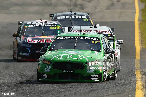 Marcos Ambrose drives the DJR Team Penske Ford during the Sandown 500 which is race 24 of the V8 Supercars Championship at Sandown International...