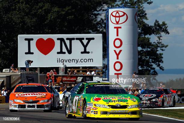 Marcos Ambrose, drives the Kwik Fil/Zippo Chevrolet, during the NASCAR Nationwide Series Zippo 200 at Watkins Glen International on August 7, 2010 in...