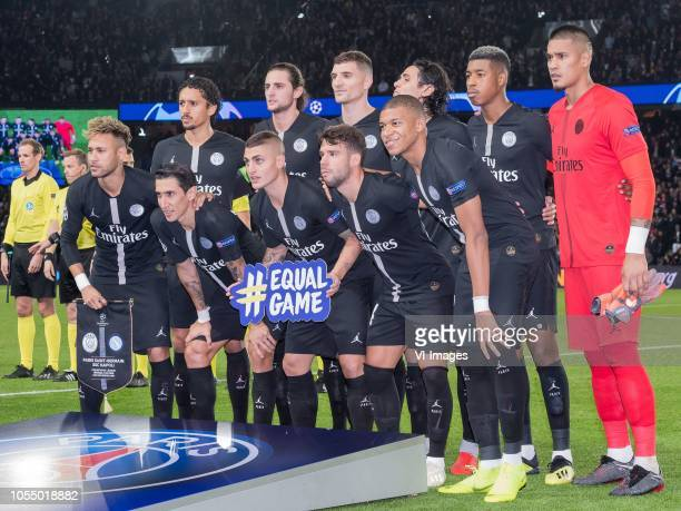 Marcos Aoás Corrêa of Paris SaintGermain Adrien Rabiot of Paris SaintGermain Thomas Meunier of Paris SaintGermain Edinson Cavani of Paris...