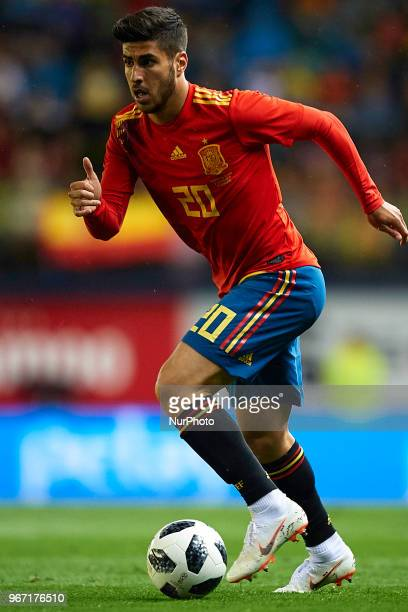 Marcos Asensio during a International friendly match between Spain against Switzerland in La Ceramica Stadium Villarreal Spain on 03 June of 2018