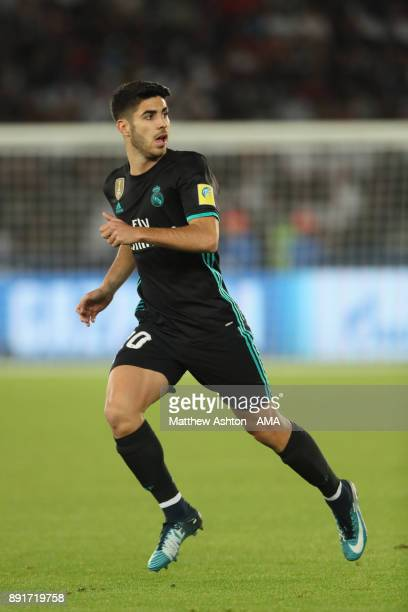 Marcos Asensio of Real Madrid in action during the FIFA Club World Cup UAE 2017 semifinal match between Al Jazira and Real Madrid CF at Zayed Sports...
