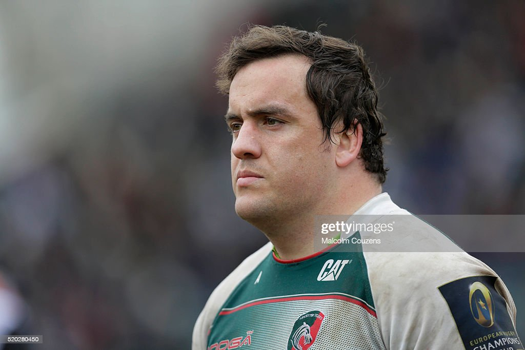 Marcos Ayerza of Leicester Tigers looks on during the European Rugby Champions Cup Quarter Final between Leicester Tigers and Stade Francais Paris on April 10, 2016 in Leicester, England.