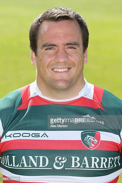 Marcos Ayerza poses for a portrait during the Leicester Tigers squad photo call for the 20162017 Aviva Premiership Rugby season on August 24 2016 in...