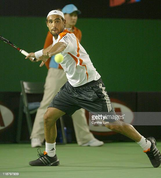 Marcos Baghdatis defeats Andy Roddick 6-4 1-6 6-3 6-4 in the fourth round of the Australian Open at Melbourne Park in Melbourne, Australia on January...