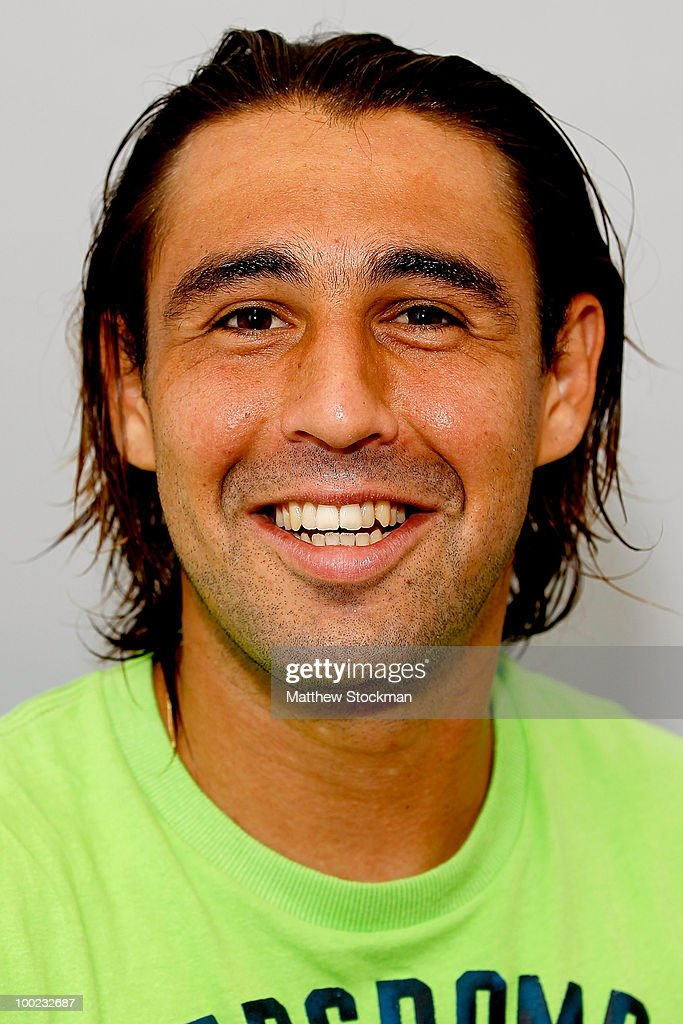 Marcos Baghdatis poses for a headshot at Roland Garros on May 22, 2010 in Paris, France.