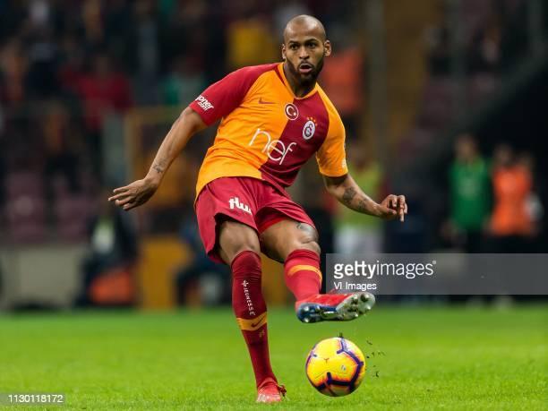 Marcos do Nascimento Teixeira of Galatasaray SK during the Turkish Spor Toto Super Lig football match between Galatasaray SK and Antalyaspor AS at...